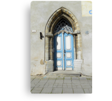 Arched Blue and White Door Canvas Print
