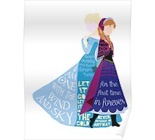 Elsa and Anna with Lyrics Poster