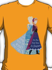 Elsa and Anna with Lyrics T-Shirt