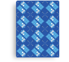 Gallifrey Argyle Canvas Print