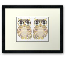 Big-Eyed Twin Cats Framed Print