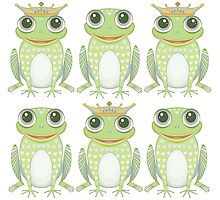 6 Frogs, 3 Crowns Photographic Print