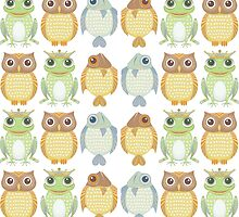 Owls Fish Frogs  by Jean Gregory  Evans