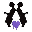 Black Silhouettes with Heart by tiffanydow