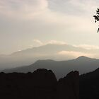 Garden of the Gods and Pike's Peak from Overlook by dfrahm
