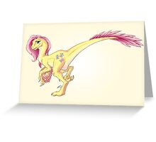 Raptor Fluttershy Greeting Card