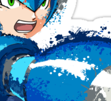 Megaman (Rockman) Splash Paint Design Sticker
