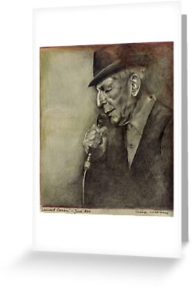 Leonard Cohen by Sorina Williams