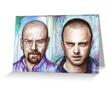 Walter and Jesse - Breaking Bad Greeting Card
