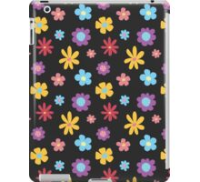 Funky Flowers (dark) iPad Case/Skin