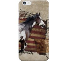 Pony Express Pinto Horse Delivering US Mail iPhone Case/Skin