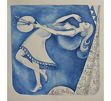 The (Woman) Painter: to the moon (after Chagall) Photographic Print