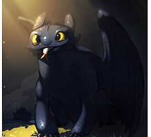 Toothless In A Cave by thebeaverlegend