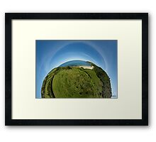 Kinnagoe Bay (as half a planet :-) Framed Print