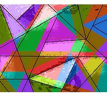Colorful triangle design Photographic Print