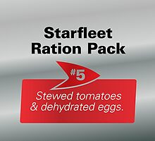 Starfleet Ration Pack #5 (Replicator Rations 1x4) by erbeining