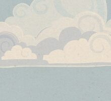 Stylised clouds by Carl Conway