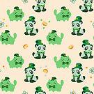 Lucky Citrus Panda and Kitty Pattern by SaradaBoru