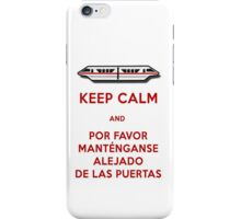 Monorail- Keep Calm (Red) iPhone Case/Skin