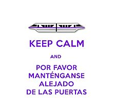 Monorail- Keep Calm (Purple) Photographic Print