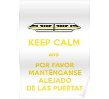 Monorail- Keep Calm (Gold) Poster