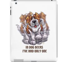 Dog Beers St. Bernard iPad Case/Skin