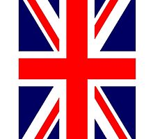 British Union Jack Flag portrait, 3:5 UK, United Kingdom, Army War by TOM HILL - Designer