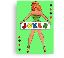 Joker Girl Canvas Print