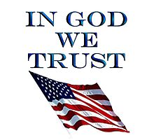 America; In God we trust; USA; American official motto by TOM HILL - Designer