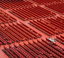 Red Chairs by Dobromir Dobrinov