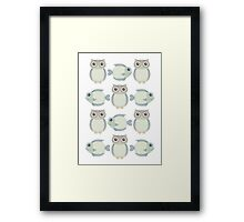 Owls & Fish Framed Print