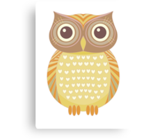 One Friendly Owl Canvas Print