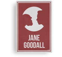 JANE GOODALL - Women in Science Collection Canvas Print
