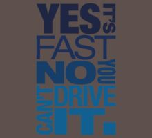 Yes it's fast No you can't drive it (3) Kids Clothes