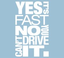 Yes it's fast No you can't drive it (5) Kids Clothes
