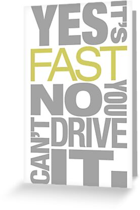 Yes it's fast No you can't drive it (7) by PlanDesigner