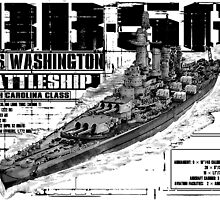 USS Washington (BB-56) by deathdagger