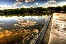 Fox River Dam, Geneva Illinois by Roger Passman