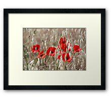 Poppies - JUSTART ©  Framed Print