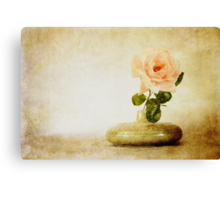 Vintage Rose - JUSTART © Canvas Print