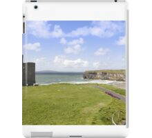 beautiful view of Ballybunion cliffs castle and beach iPad Case/Skin