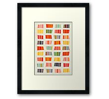 Beach Towels Framed Print