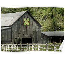 Kentucky Barn Quilt - 3 Poster