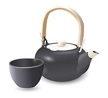 Oriental Teapot Set by frozenfa