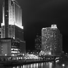 Chicago River After Dark by Victoria Jostes