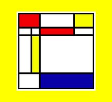 Mondrian Block Colour Collection No.1 by Ged J