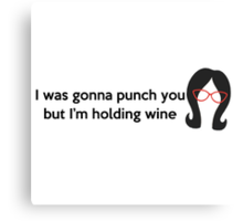 Holding Wine Canvas Print