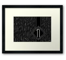 1920s Jazz Deco Swing Monogram black & silver letter N Framed Print