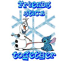 Olaf and Stitch Friends Photographic Print