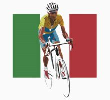 Maillot Jaune, Italy Flag 2 by Andy Farr